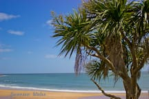 No, it is not a tropical paradise, it's Langland Bay.