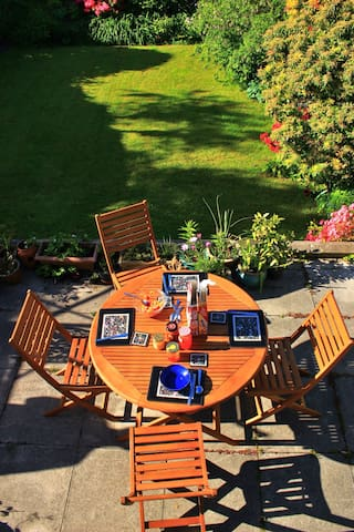 Breakfast on the terrace, weather permitting.