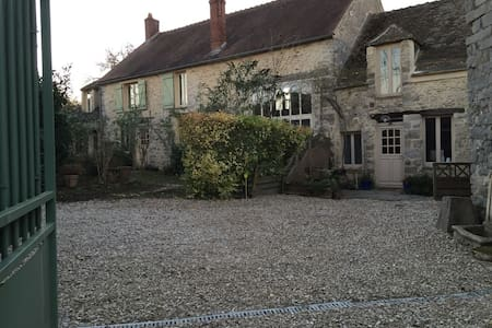 Country farm near Paris - Villeneuve-sur-Auvers - Rumah