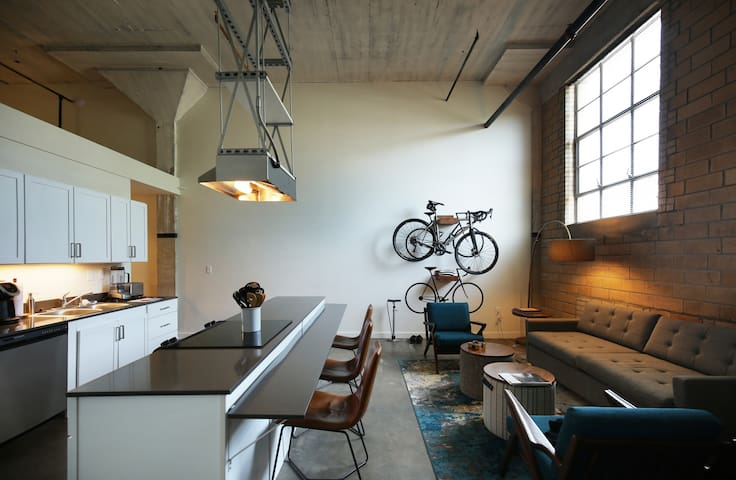 Industrial Style Loft with Amazing Character