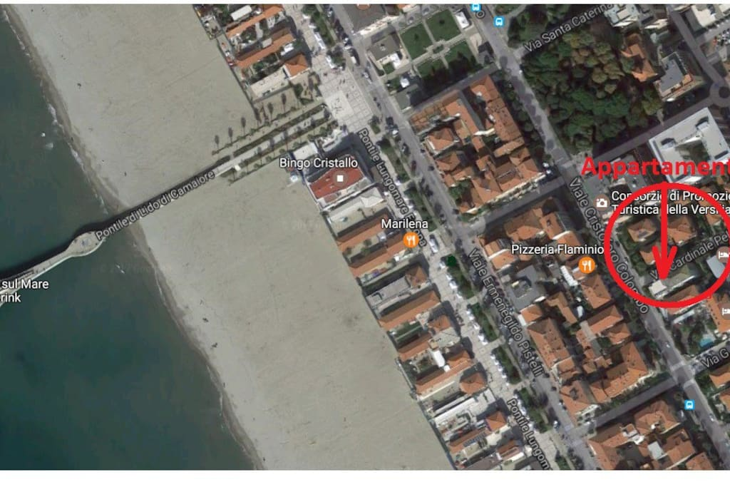 Panoramica con localizzazione appartamento