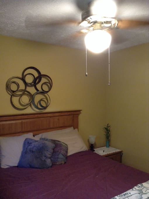 Private bedroom- ceiling fan