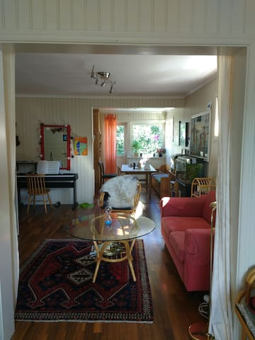 Peace and nature; private, friendly; close to city