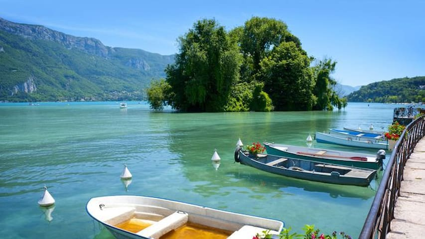 ANNECY Center - 1mn from lake / 3-7 pers. Albigny