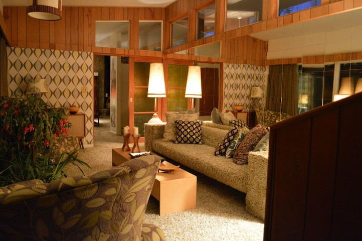 Mid Century Modern Brook House - Montgomery - House