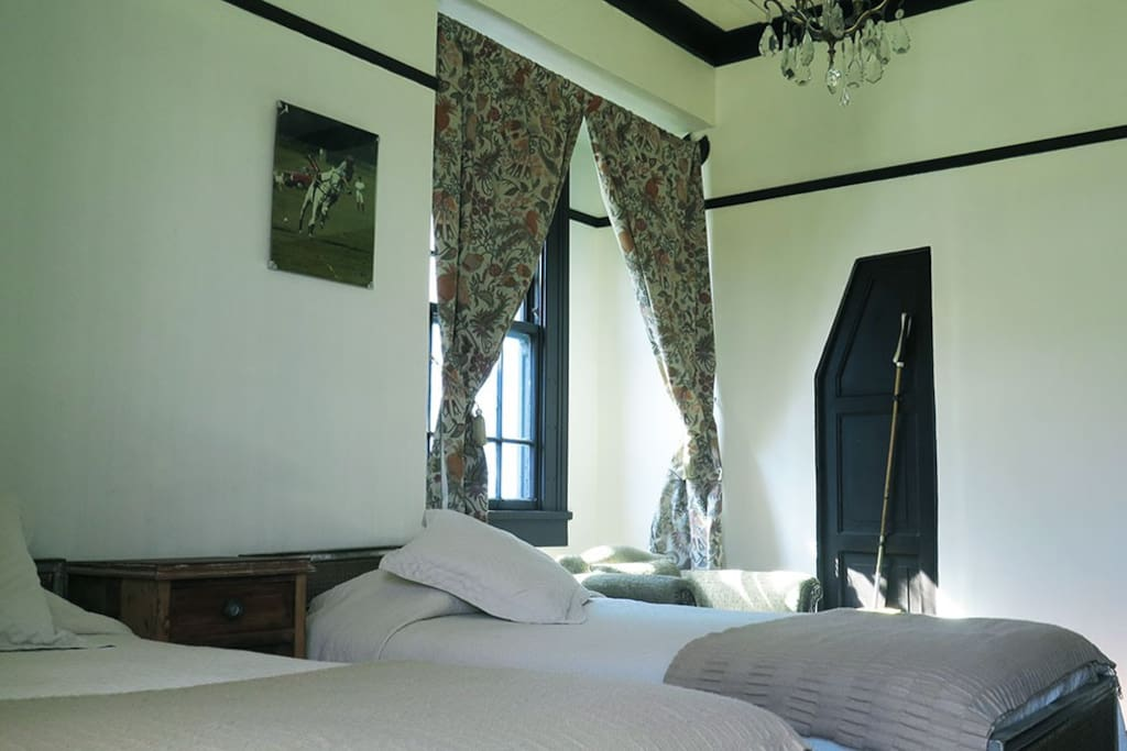 The room has wonderful light and has an ensuite shower room