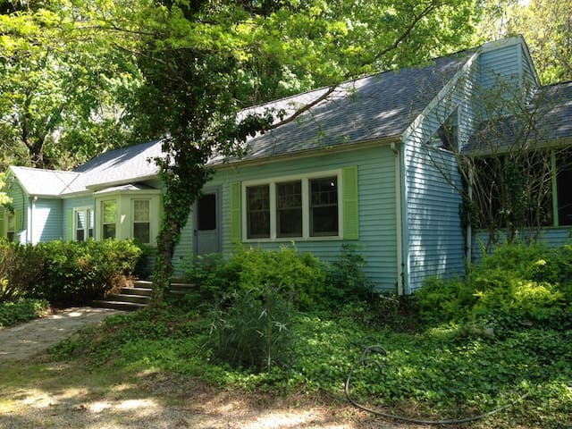 Wonderful garden and woods on one acre.  Private yard surrounded by trees.
