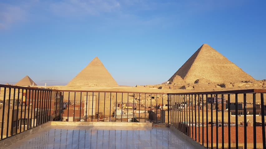 The magical view of the pyramids