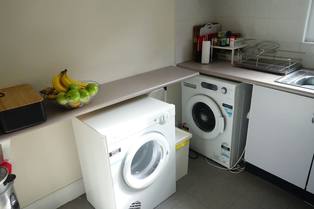 Washing Machine, Dryer, Dishwasher...all you need in a kitchen is there!