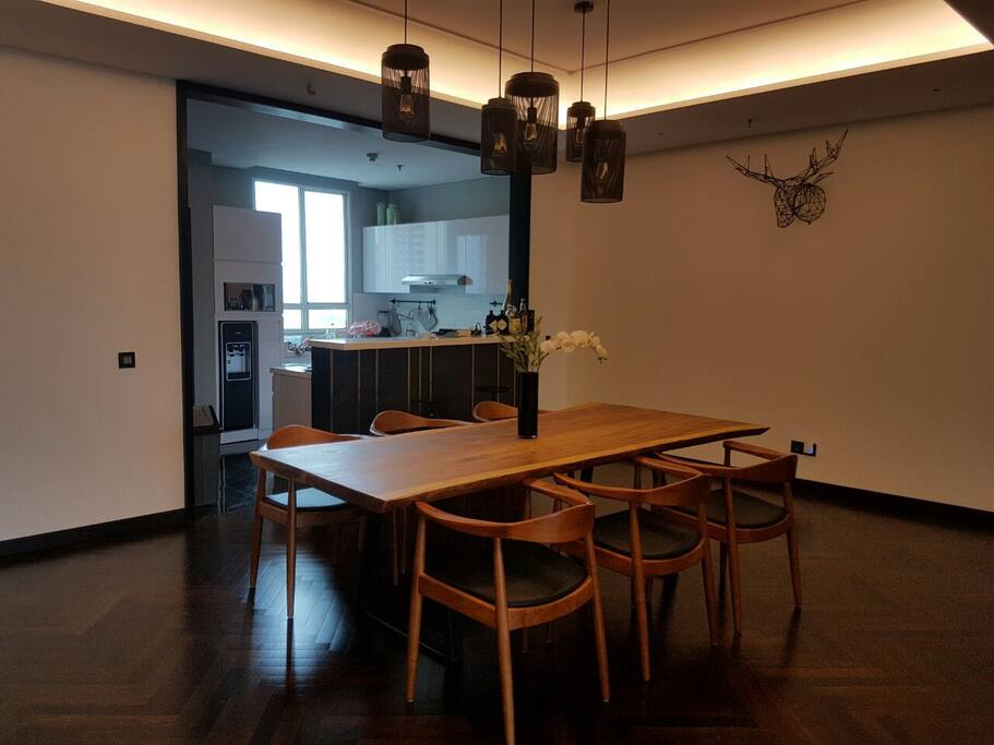 Dining Area + Open Kitchen Space