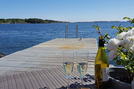 Charming child-friendly apartment by the sea - Grimstad