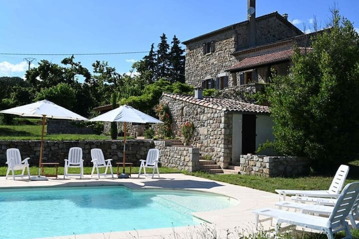 Restful Villa in Largentière with Swimming Pool