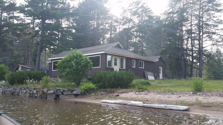 Beach front cottage on Big Basswood Lake.