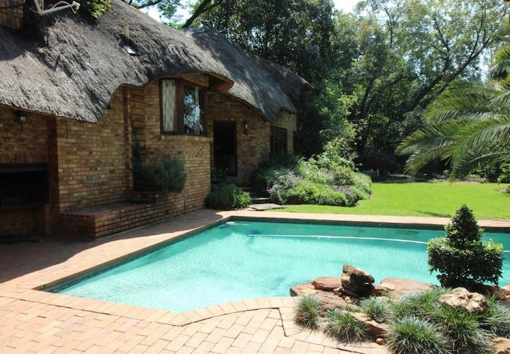 African Hideout Located in a Tranquil Garden