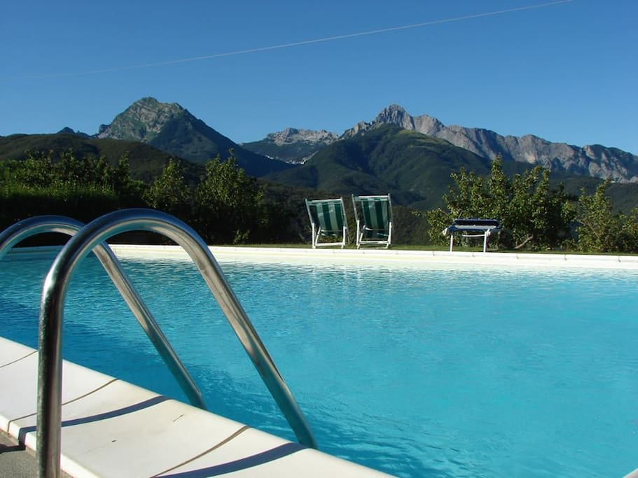 Swimming pool in the magic.... ( 15 mt x6 mt, shared pool with the other guests of our Agriturismo; pool open from 3th week of May , possibly closed from the 3th week of September)