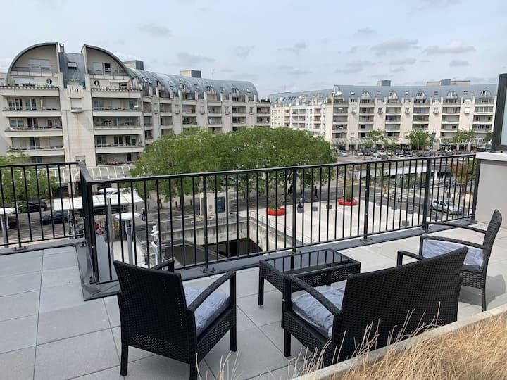 Vaste Appart neuf 82 m2 3 chambres terrasses 70m2