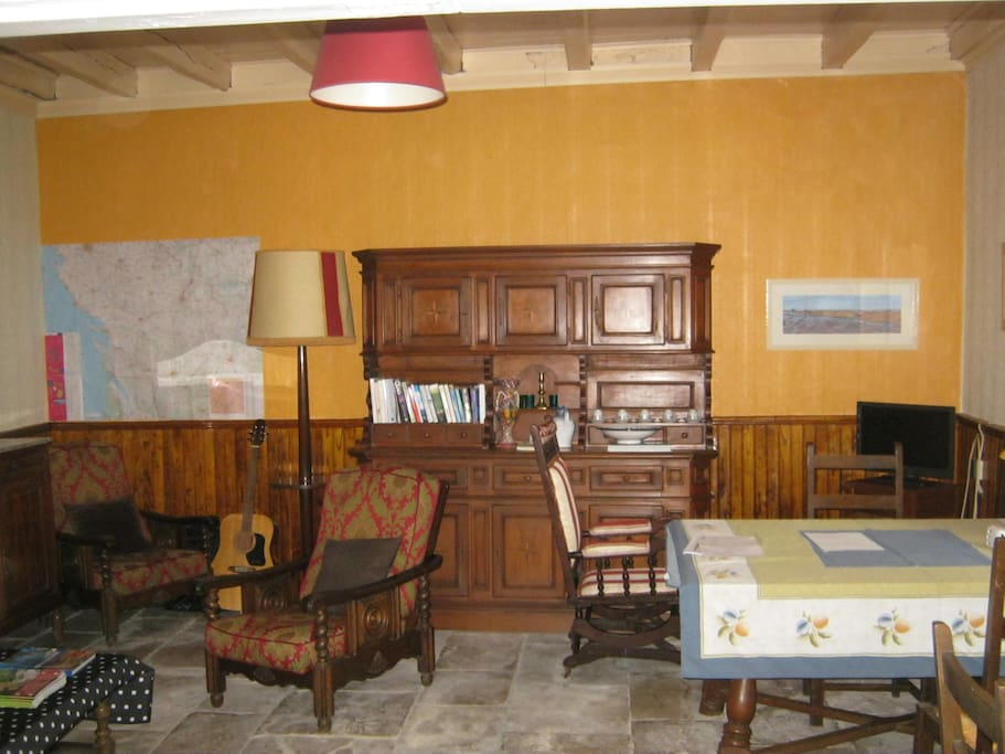 Lounge room of the Maison.