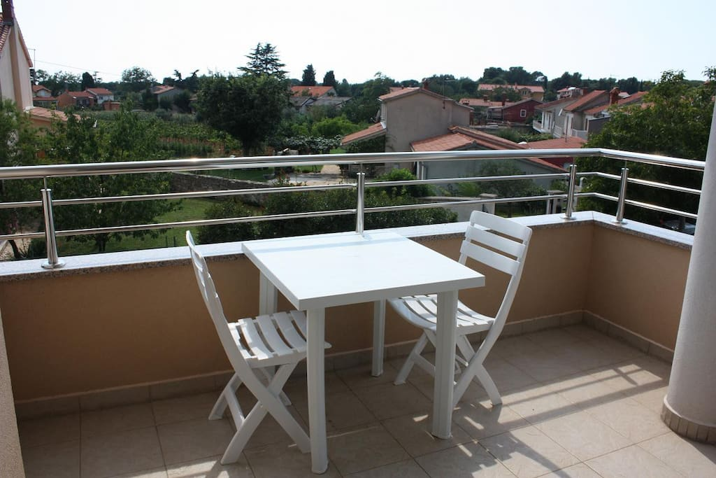 Terrace with lovely garden view