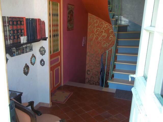 vue sur les escaliers du bas et du haut !