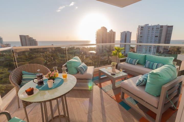 Apartamento nuevo, vista al mar,  Pozos Colorados