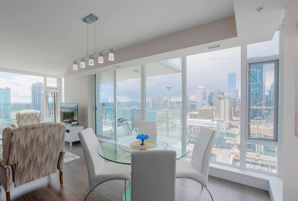Great views from Living and Dining Room