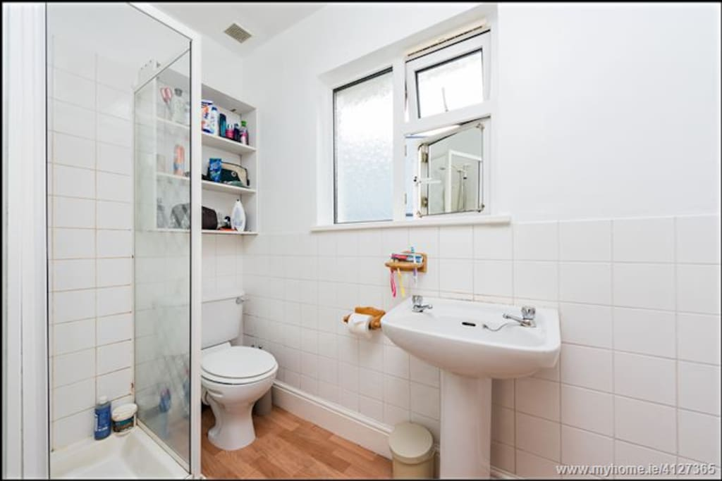 Shared toilet and shower