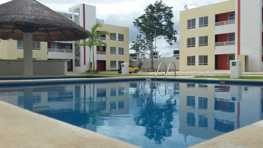 Pretty apartment with swimming pool - Cancún - Apartment