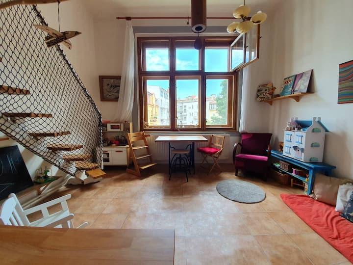 útulný eko-byt v centru Hradce