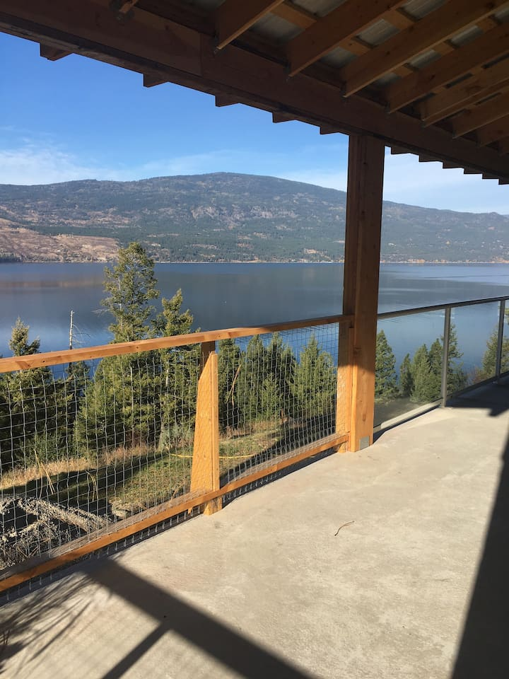 Stunning View of the Okanagan lake from the deck.