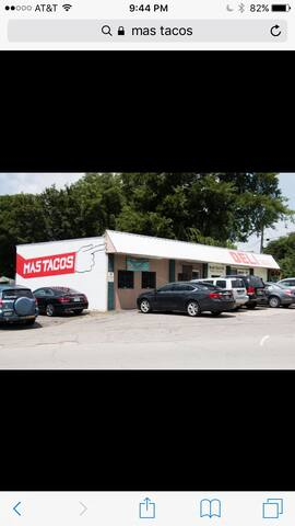 Delicious, authentic tacos at MAS TACOS! Yum -- their agua frescas and chicken soup can't be beat.