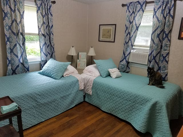Private Room w/ 2 Twin Beds close to Six Flags