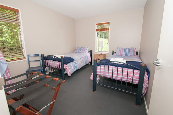 Twin room, with feather/down duvet and pillows.  A rollaway bed also fits in here.