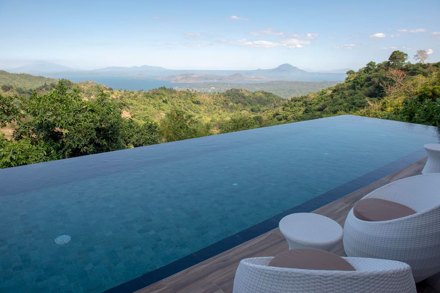 Infinity Pool with view of Taal