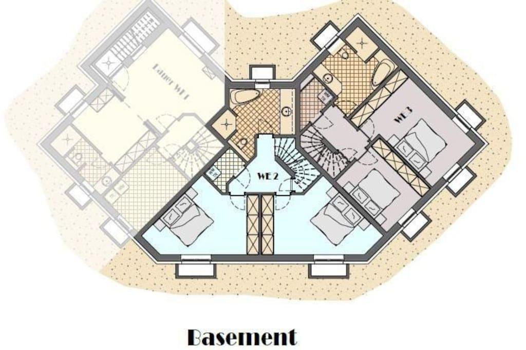 """WE 3 = Wohnung  """"Amrum"""" Grundrisszeichnung"""