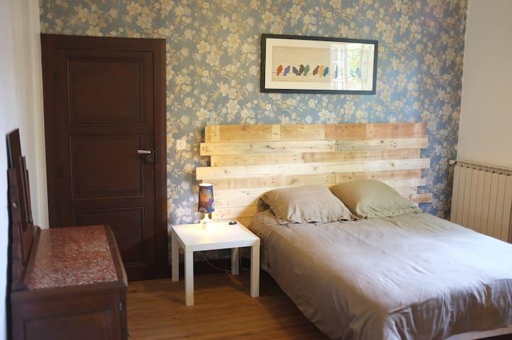 Chambre dans maison avec jardin - Centre ville