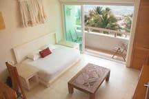 Mat bed & balcony