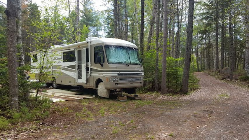 RV Glamping in a luxury RV