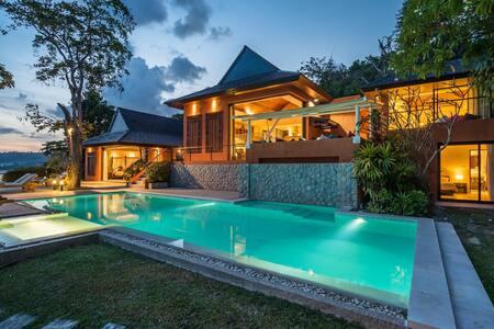Nam Bo,  Oceanfront private pool villa, maid, cook