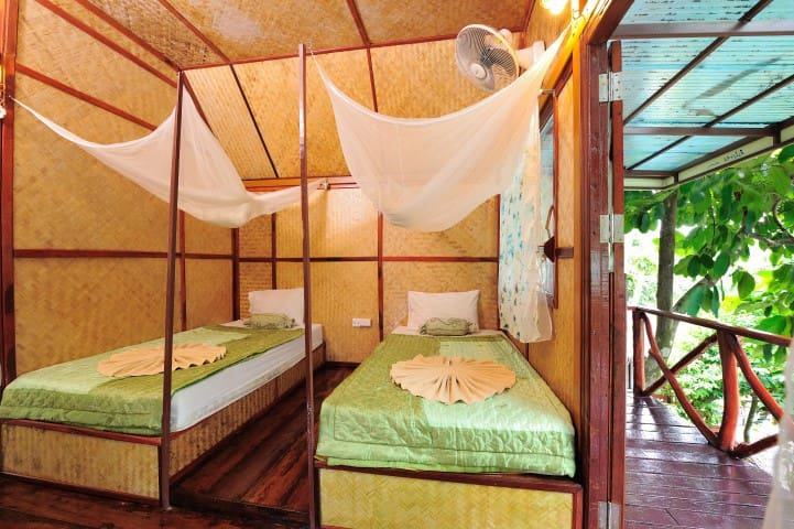 Twin with a Fan in Paradise - Ao Nang - Bungalow