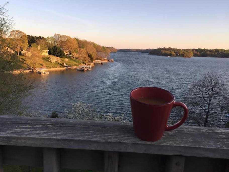 Morning view from the deck!