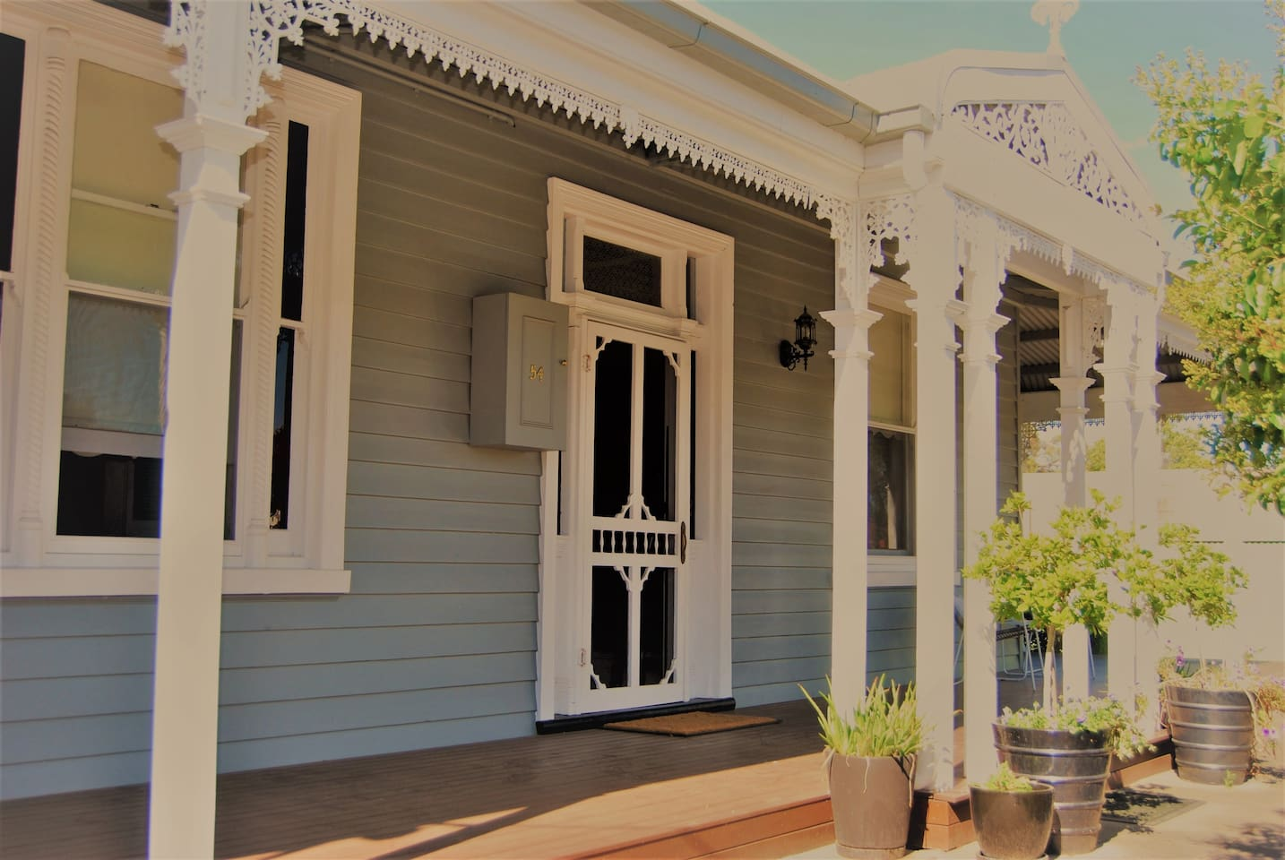 Our lovely home - welcome! We are only a 5 minute walk to the CBD.