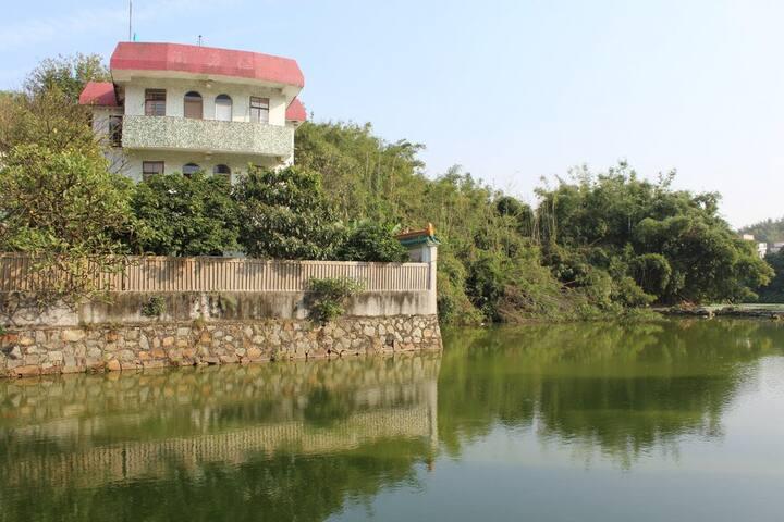 长洲岛深井古村里的独栋小院,池塘边小山下有暖阳 - Guangzhou - Villa