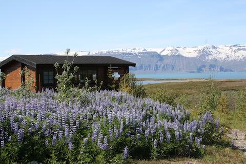 1 bedroom cottage cuddled into nature in Husavik.