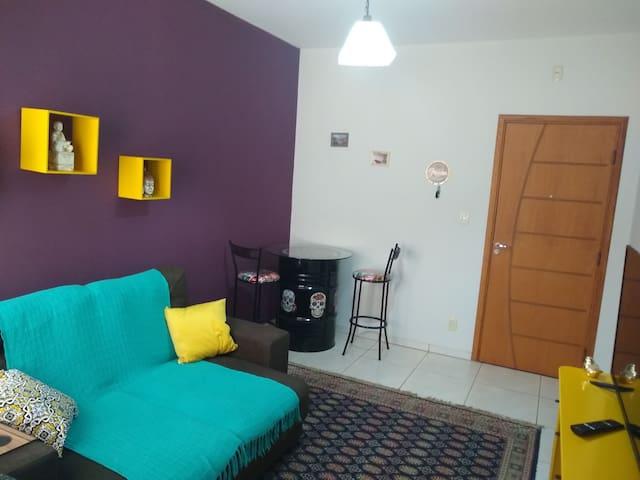 Apartamento aconchegante, em ambiente familiar
