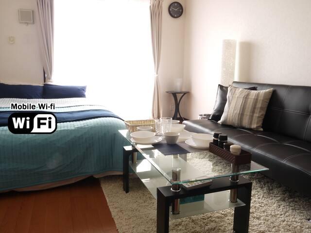 Near Namba clean & cozy room wi-fi - Ōsaka-shi - Wohnung