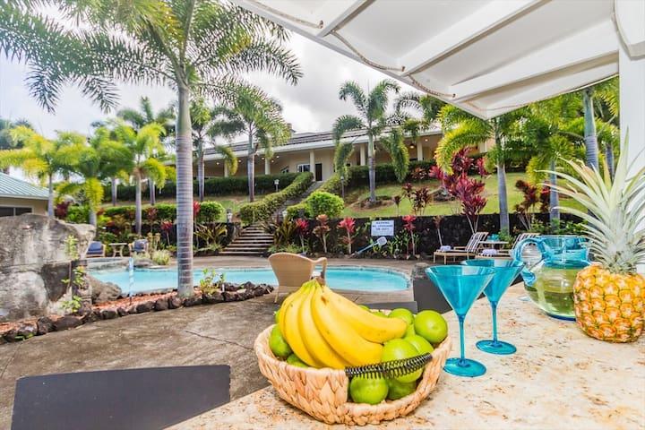 Lai Nani Luxurious Oceanfront Vacation Rental and Pool in Hakalau, Big Island