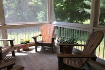 A screened-in back porch is available to our guests.