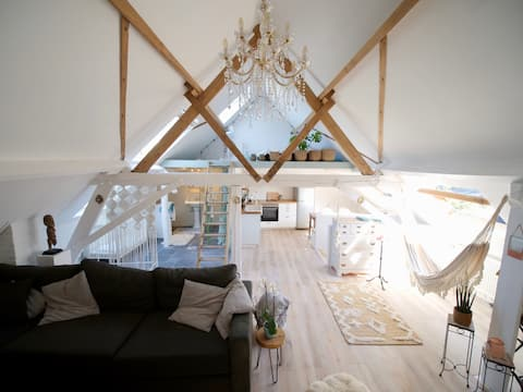 Peace & Loft / peaceful place close to Brussels