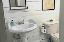 Towels, soap, shampoo and conditioner are stocked for guests to use during your stay. If you need a hair dryer, forget packing one - we have one waiting for you!