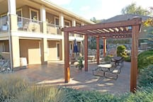 Courtyard with private access to the Wine room and Writer's room
